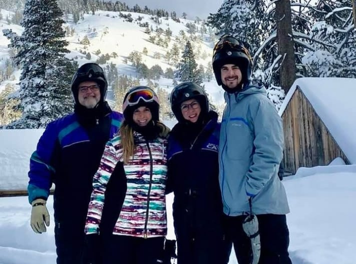 Doctor Hoop and his family on ski trip